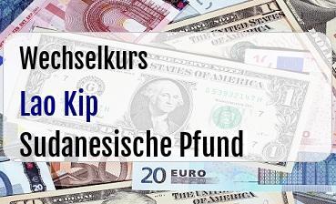 Lao Kip in Sudanesische Pfund