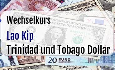 Lao Kip in Trinidad und Tobago Dollar