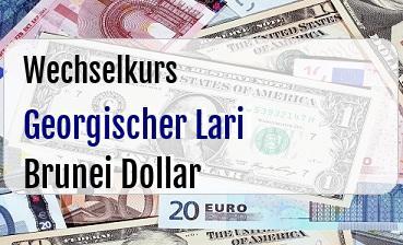 Georgischer Lari in Brunei Dollar