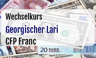 Georgischer Lari in CFP Franc