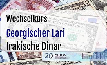 Georgischer Lari in Irakische Dinar