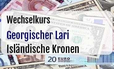 Georgischer Lari in Isländische Kronen