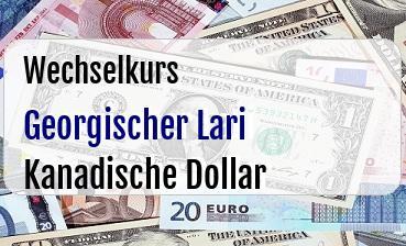 Georgischer Lari in Kanadische Dollar