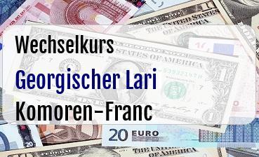 Georgischer Lari in Komoren-Franc