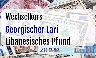 Georgischer Lari in Libanesisches Pfund