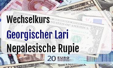Georgischer Lari in Nepalesische Rupie