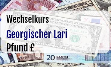 Georgischer Lari in Britische Pfund