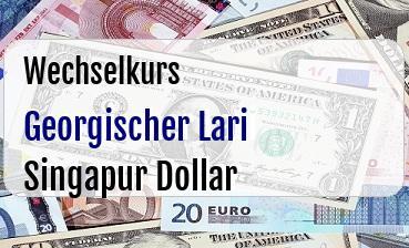 Georgischer Lari in Singapur Dollar
