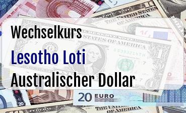 Lesotho Loti in Australischer Dollar