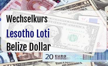 Lesotho Loti in Belize Dollar