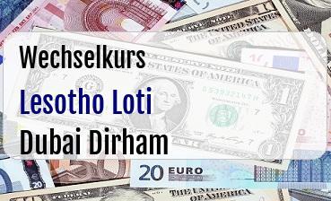 Lesotho Loti in Dubai Dirham