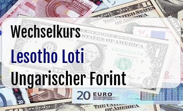 Lesotho Loti in Ungarischer Forint