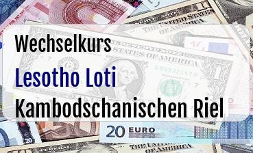 Lesotho Loti in Kambodschanischen Riel