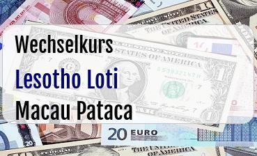 Lesotho Loti in Macau Pataca