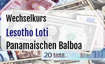 Lesotho Loti in Panamaischen Balboa