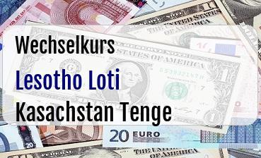 Lesotho Loti in Kasachstan Tenge