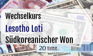 Lesotho Loti in Südkoreanischer Won