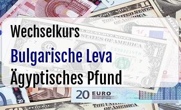 Bulgarische Leva in Ägyptisches Pfund