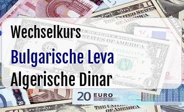 Bulgarische Leva in Algerische Dinar