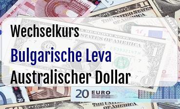 Bulgarische Leva in Australischer Dollar
