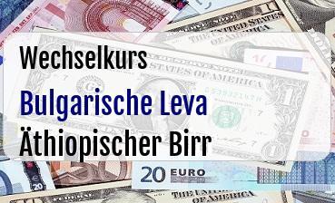 Bulgarische Leva in Äthiopischer Birr