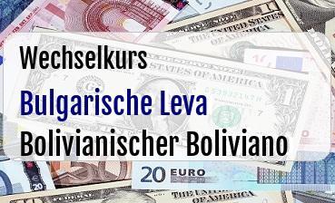 Bulgarische Leva in Bolivianischer Boliviano