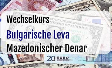 Bulgarische Leva in Mazedonischer Denar
