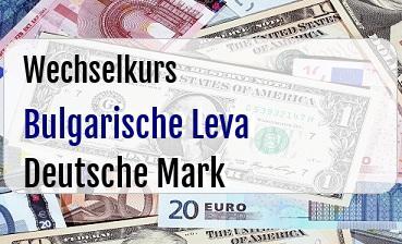 Bulgarische Leva in Deutsche Mark