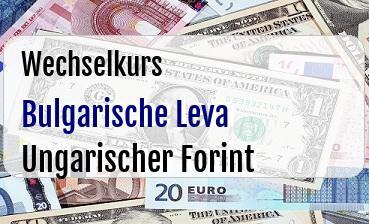 Bulgarische Leva in Ungarischer Forint