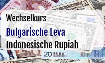 Bulgarische Leva in Indonesische Rupiah