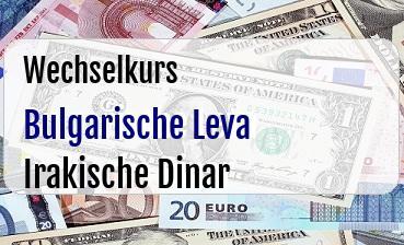 Bulgarische Leva in Irakische Dinar