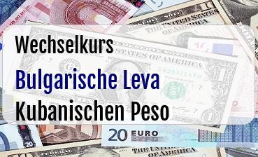 Bulgarische Leva in Kubanischen Peso
