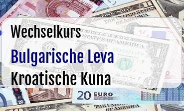 Bulgarische Leva in Kroatische Kuna