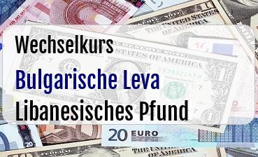 Bulgarische Leva in Libanesisches Pfund