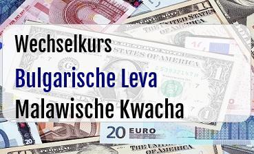 Bulgarische Leva in Malawische Kwacha