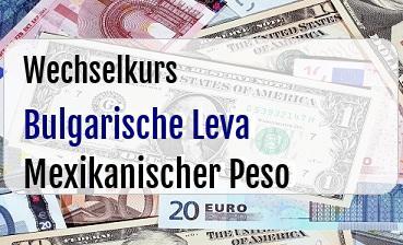 Bulgarische Leva in Mexikanischer Peso