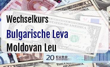 Bulgarische Leva in Moldovan Leu