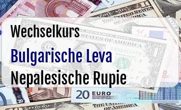 Bulgarische Leva in Nepalesische Rupie