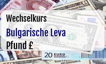 Bulgarische Leva in Britische Pfund