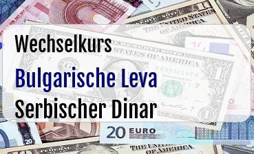 Bulgarische Leva in Serbischer Dinar