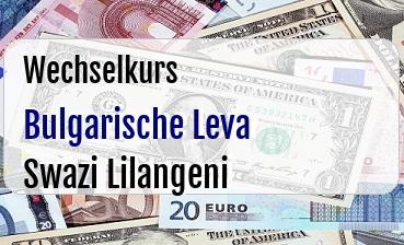 Bulgarische Leva in Swazi Lilangeni