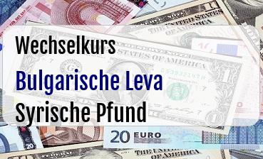 Bulgarische Leva in Syrische Pfund