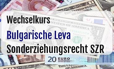 Bulgarische Leva in Sonderziehungsrecht SZR