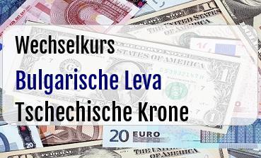 Bulgarische Leva in Tschechische Krone