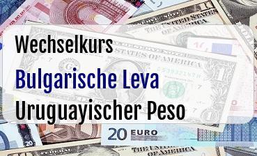Bulgarische Leva in Uruguayischer Peso