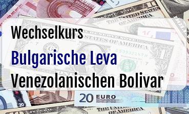 Bulgarische Leva in Venezolanischen Bolivar