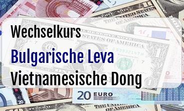 Bulgarische Leva in Vietnamesische Dong