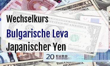 Bulgarische Leva in Japanischer Yen