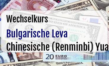 Bulgarische Leva in Chinesische (Renminbi) Yuan