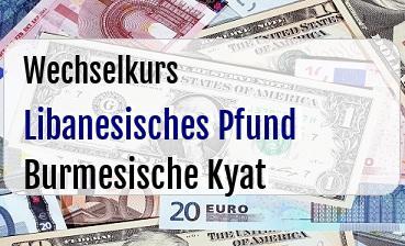 Libanesisches Pfund in Burmesische Kyat